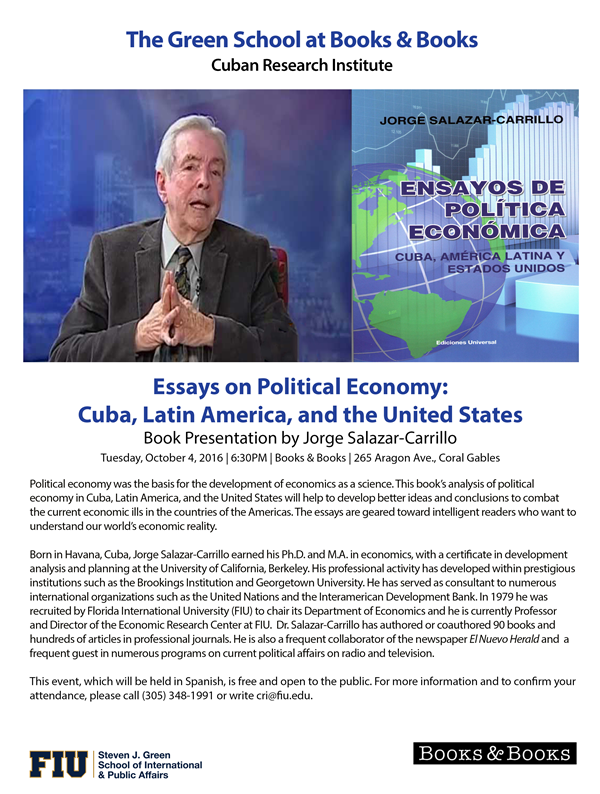 cuban economics essay Cuba's economy president raul castro said cuba is going through some adverse circumstances and but rejected any notion of an imminent economic collapse.