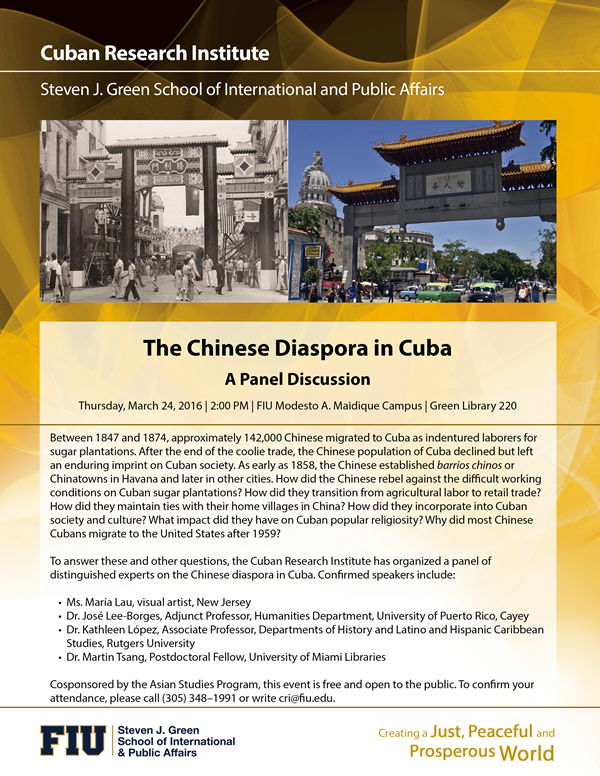 The Chinese Diaspora in Cuba: A Panel Discussion | Cuban