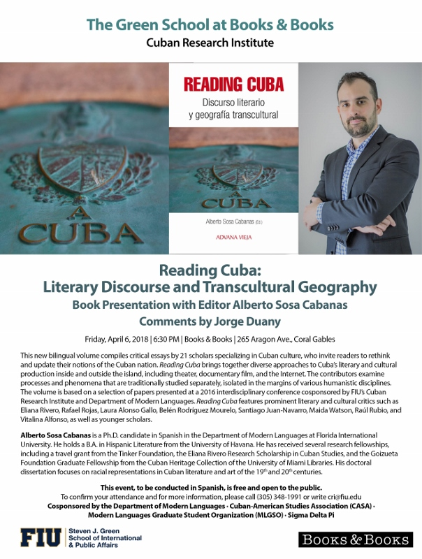 Book Presentation Reading Cuba Discurso Literario Y Geograf A